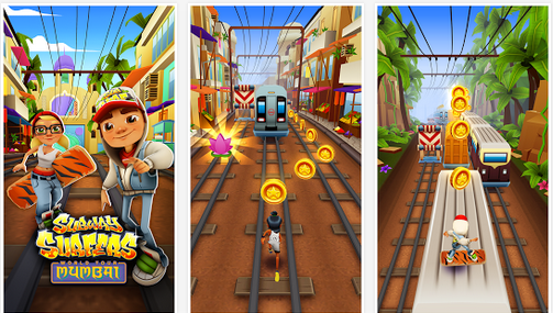 Free Download Subway Surfers Mumbai game apk Unlimited coins Keys hack