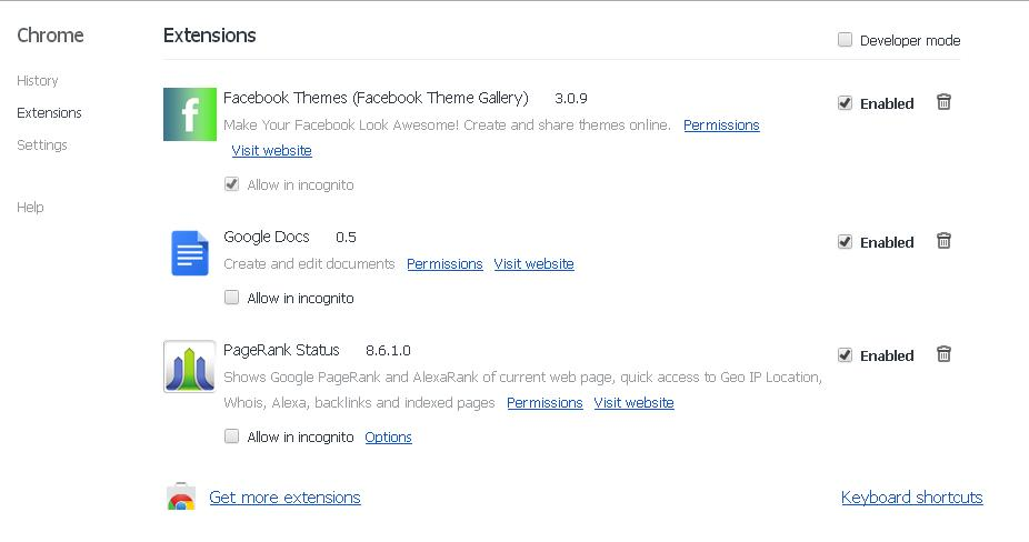 change facebook theme using google chrome extension