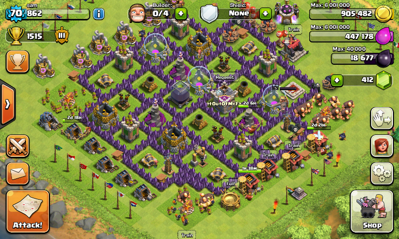Install Play Clash Of Clans on Bluestacks Windows Mac PC