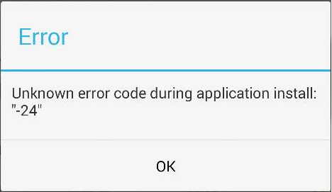fix unknown error during application install 24