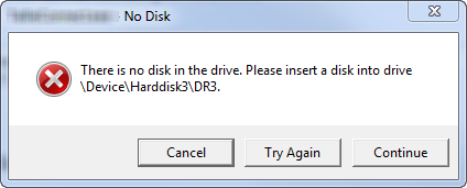 Fix there is no disk in the drive error windows XP/ 7/8/10.